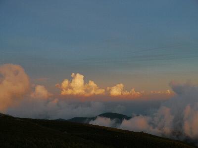 別山と入道雲
