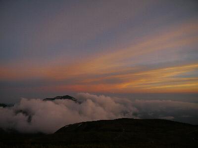 白山夕陽2