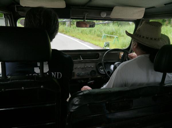 jeepで