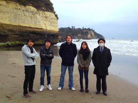 仙台の海で