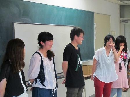 盛岡大学の学生たち
