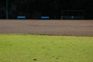 「写真で散歩」文字のある風景その1 運動公園の朝 2012【秋】