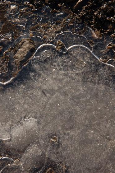 写真で散歩 宇都宮で撮った男体山似の氷