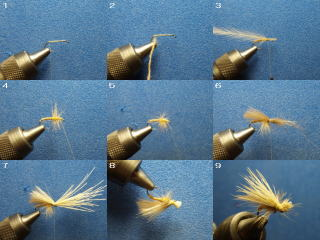 elk hair caddis tying