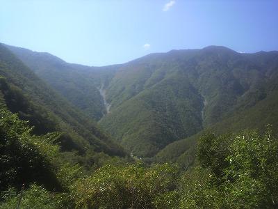 吉野の山並み