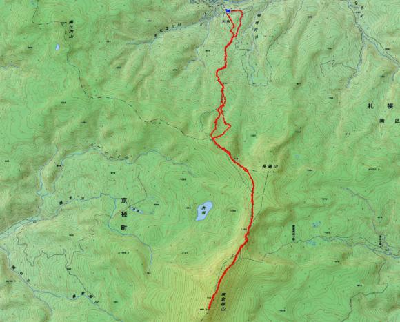 無意根山 地図