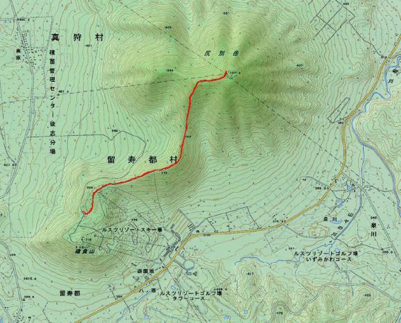 尻別岳 地図