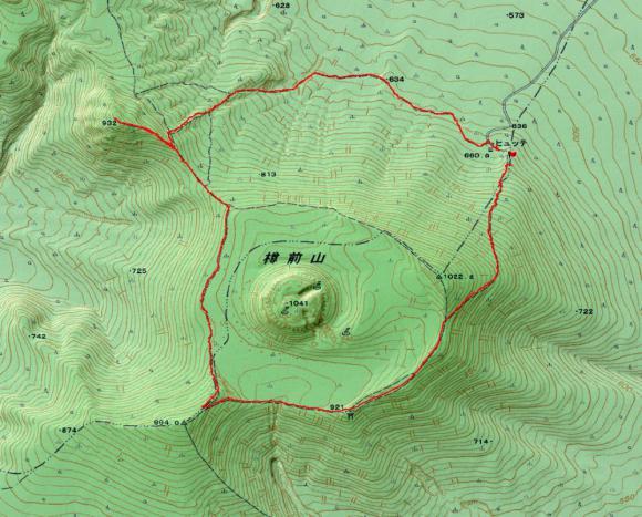 樽前山20120722 地図