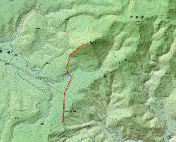 白老岳南峰地図20130105