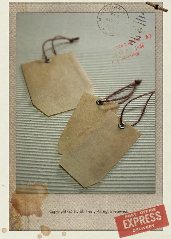 ロウ引きタグ型封筒