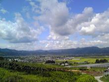獣の足跡をたどって・・・-上山市全景