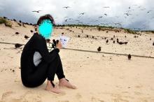獣の足跡をたどって・・・-海鳥ウォッチング