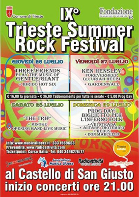 2012 Trieste summer rock fes poster
