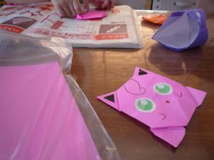 折り紙作成中