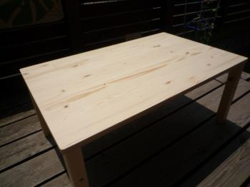 パイン折り畳みローテーブル