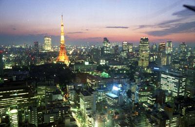 東京タワー方面夜景