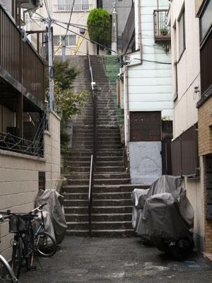 01荒木町階段2