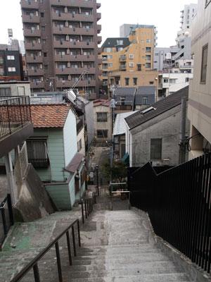 01荒木町階段3