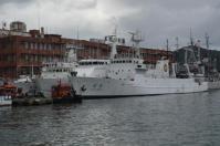 基隆港に停泊中の台湾巡視船