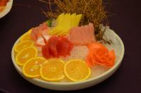 北海宴會館の宴会コース「刺身盛り合わせ」