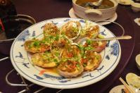 北海宴會館の宴会コース「清蒸干貝」