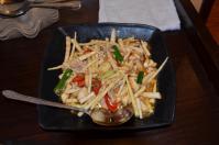 北海宴會館の筍と豚肉炒め