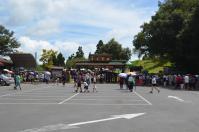 土曜で観光客の多い清境農場青青草原入口