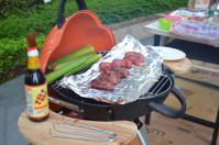もう焼き始めてます2012中秋節BBQ