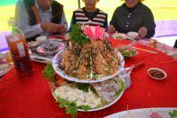 婚約式の宴会料理エビフライオードブル1209