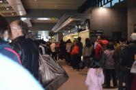 台中駅で切符購入は長蛇の列1209