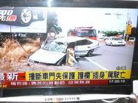 台東で防護策に突き刺さり運転手死亡2