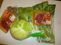 台風5号に備えて特売野菜購入
