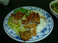 香港富記烤鴨の油鶏飯