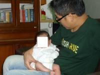 台南弟分と赤ちゃん