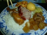 香港富記烤鴨の油鶏叉焼飯