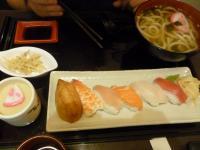 天母新光三越の京桃山の握り寿司ウドンセット1006