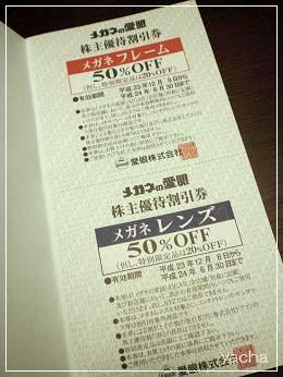 20120621愛眼株主優待券半額