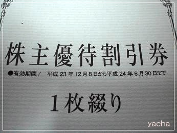 20120621愛眼株主優待券6月30日まで