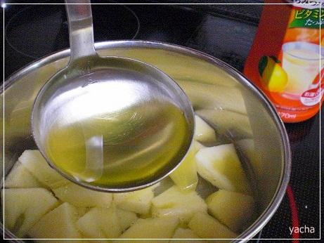 20121120りんご煮る