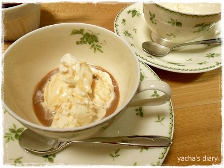 20121208濃厚紅茶をアイスにかけて