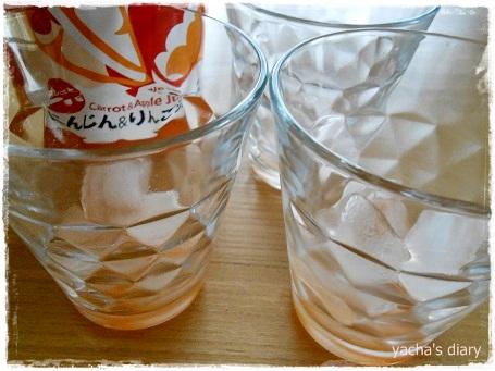 20121223ここさちジュース空っぽ
