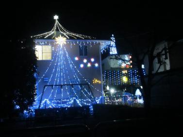 クリスマスイルミネーション2012年バージョン(正面)
