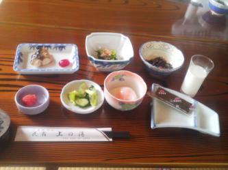 民宿  上の湯 朝食