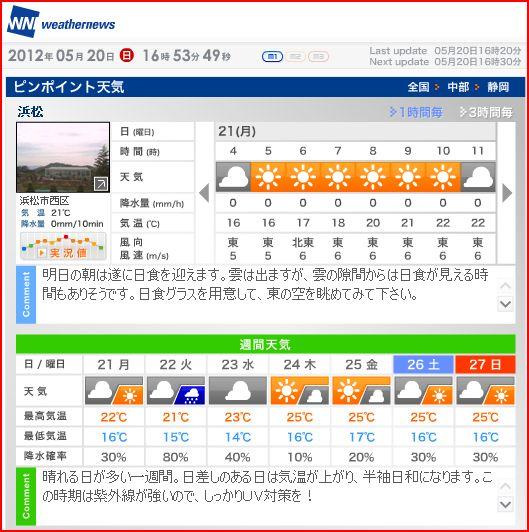 今日の天気