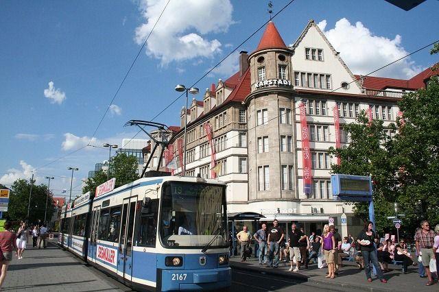 ミュンヘン中央駅前