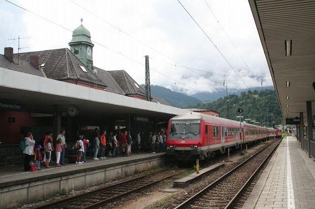 オーストリア国境に近いガルミッシュ・パルテンキルヒェン駅