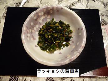 P1030409ラッキョウの葉佃煮