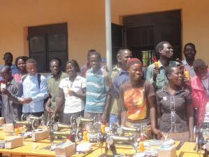 Joyful students with some of the tools