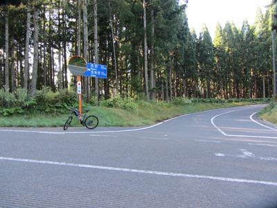堀之内から登って、ここR406に到着ここから長野へ406を