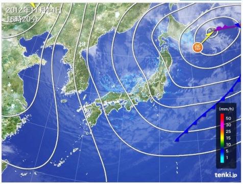 2012.11.14天気図
